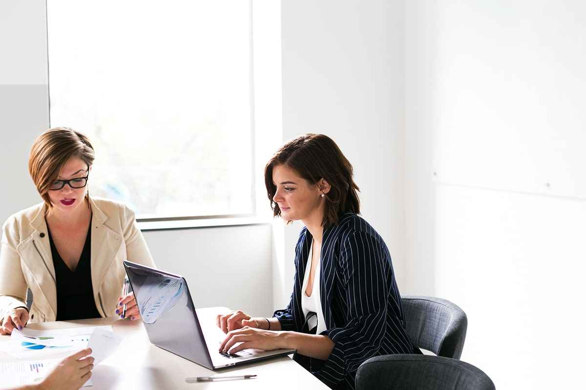 two girl discussing about SEO Service in Christchurch